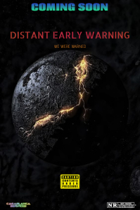 DISTANT EARLY WARNING Poster template