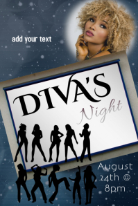 Diva's Party Flyer