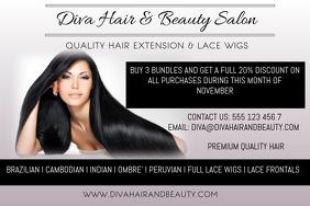 530+ Hair Extensions Customizable Design Templates