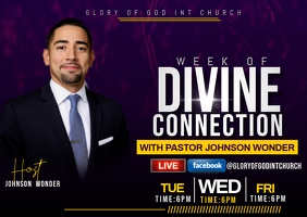 DIVINE CONNECTION FLYER Postcard template