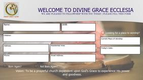 DIVINE GRACE ECCLESIA VISITORS CARD FRONT