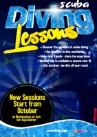 diving lessons poster