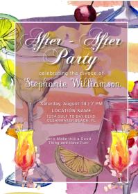 Divorce Party Invitation Postcard A6 template