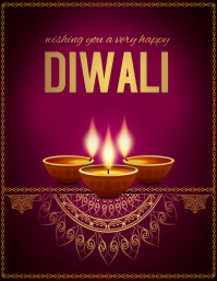 diwali, holi, happy diwali Flyer (US-Letter) template