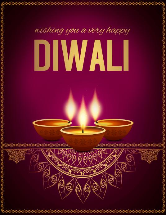 diwali, holi, happy diwali Pamflet (Letter AS) template