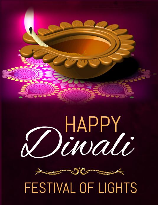 diwali, holi, happy diwali Flyer (Letter pang-US) template