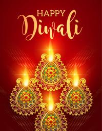 diwali, holi, happy diwali Volantino (US Letter) template