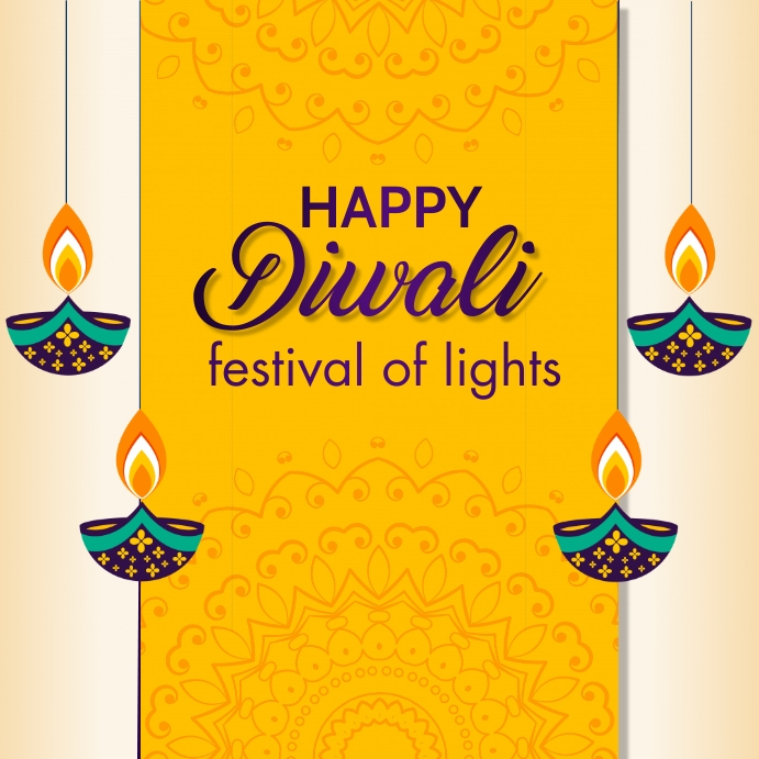 diwali, holi, happy diwali Message Instagram template