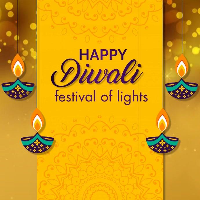 diwali, holi, happy diwali Publicación de Instagram template