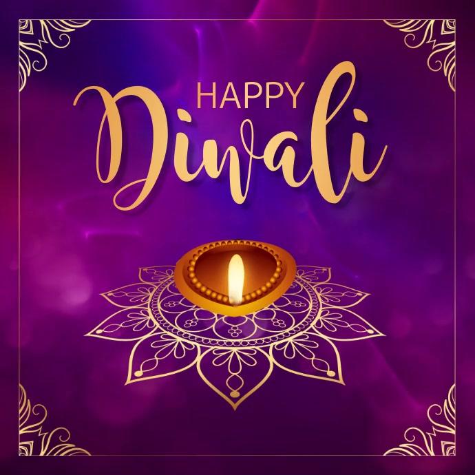 diwali, holi, happy diwali Instagram Post template