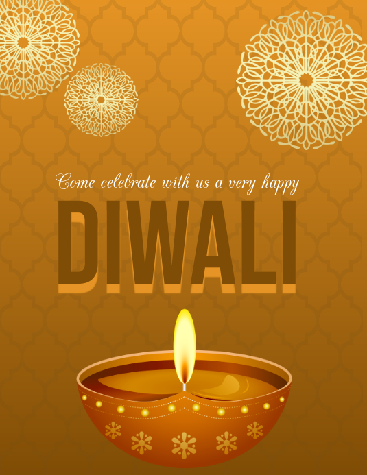 diwali, holi, happy diwali Flyer (Letter pang-US) template