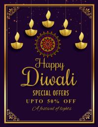 Diwali,diwali festival,pongal,sankranti Flyer (US Letter) template