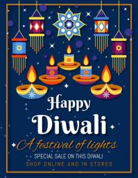 Diwali,diwali festival Pamflet (Letter AS) template