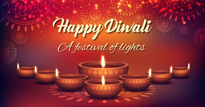 Diwali,diwali festival Image partagée Facebook template