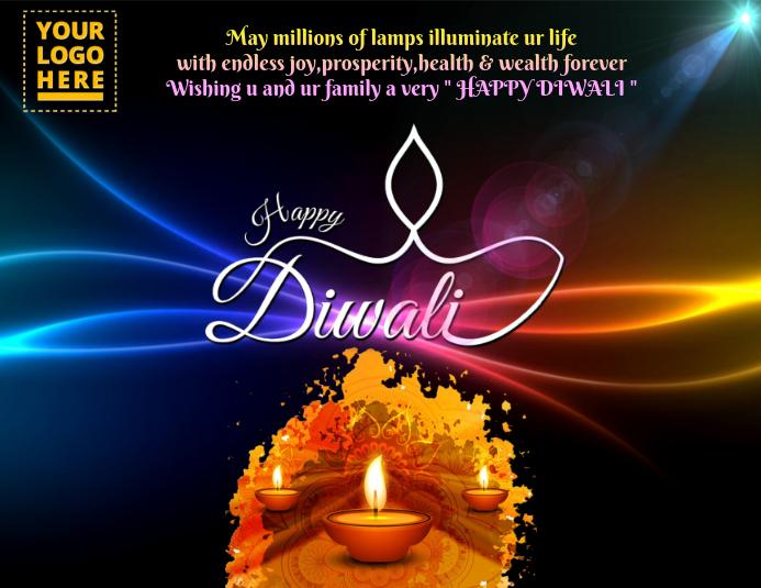 Diwali Template 2017 ใบปลิว (US Letter)