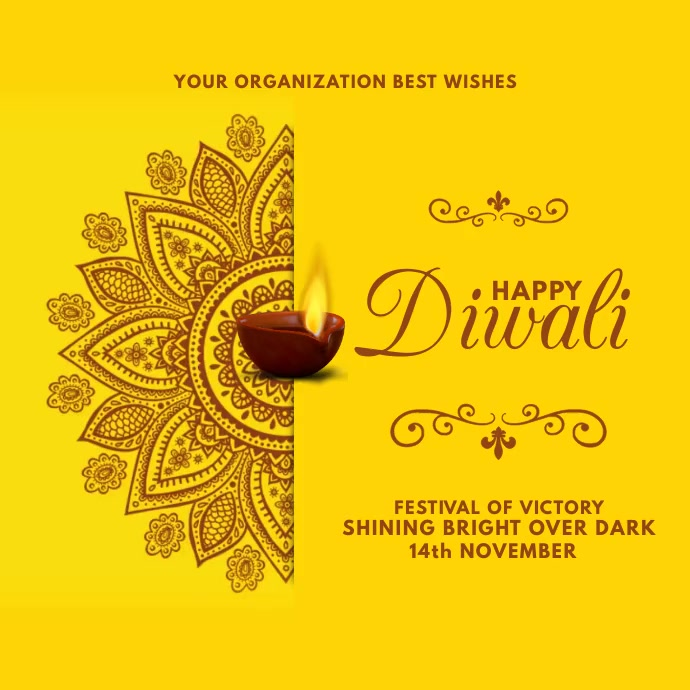 Diwali Best Wishes Video Template Square (1:1)