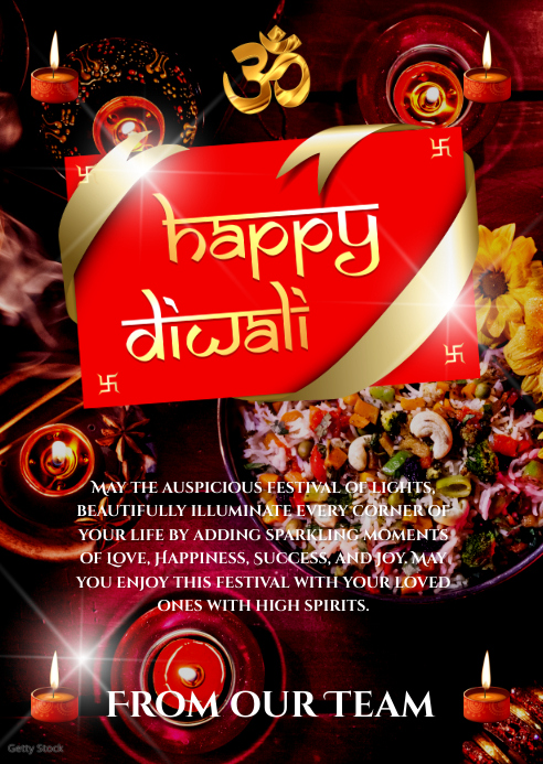 Diwali Card A6 template