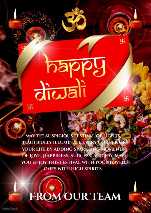 Diwali Card A6 template