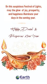 Diwali Card WhatsApp Status template