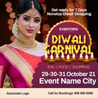Diwali Carnival Event Post Template Instagram-opslag