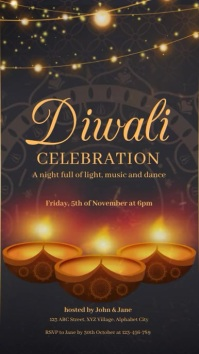 Diwali Celebration Template История на Instagram