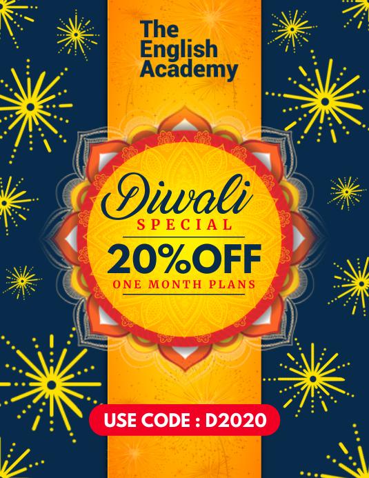 Une Modele De Courrier Electronique Pour L Offre De Cours Diwali Postermywall