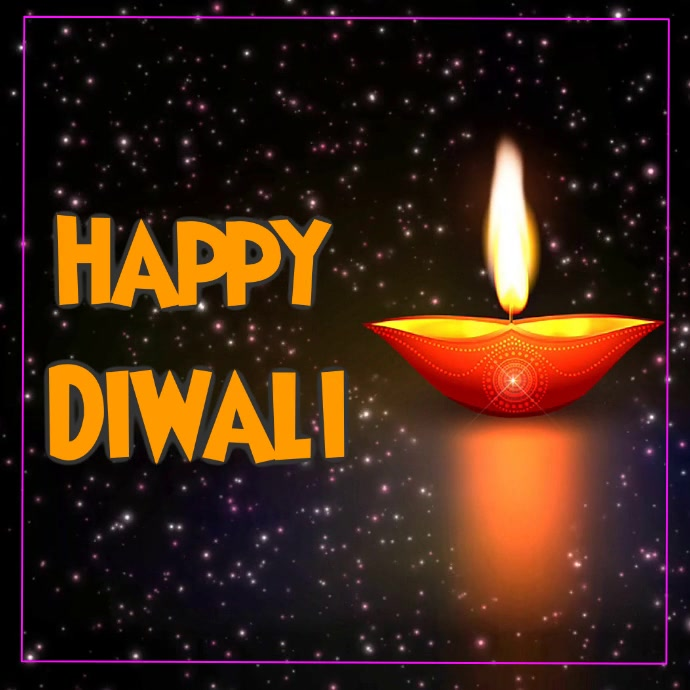 Diwali Square (1:1) template