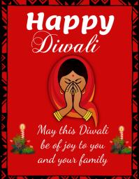 Diwali Flyer (US Letter) template