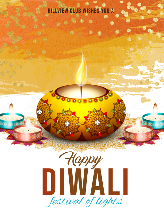 Diwali Flyer (Letter pang-US) template