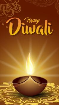 diwali เรื่องราวบน Instagram template