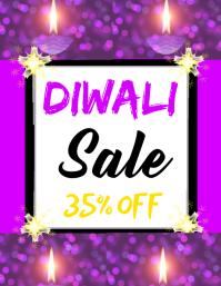 Diwali Folheto (US Letter) template