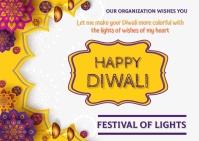 Diwali Kartu Pos template