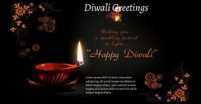 Diwali Greetings Card Image partagée Facebook template