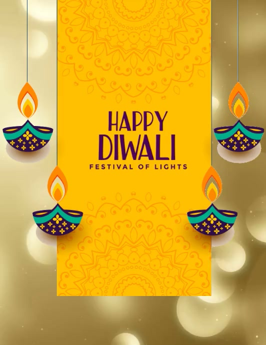 Diwali Folder (US Letter) template
