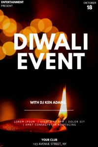 Diwali event party flyer template Poster