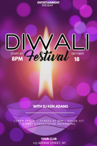Diwali event party flyer template