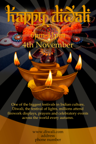 Diwali Event Poster template