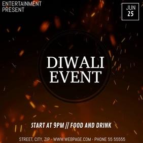 diwali event video flyer template