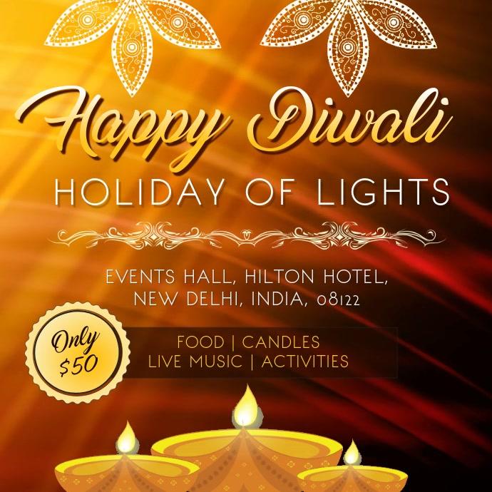 Diwali Family Event Invitation Video Sample