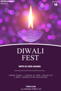 Diwali fest event party flyer template Poster