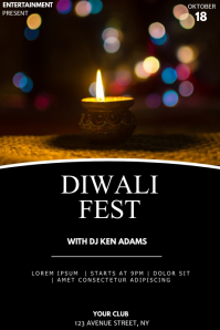 Diwali fest event party flyer template