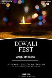 Diwali fest event party flyer template