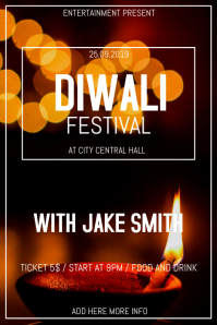 Diwali fest flyer template