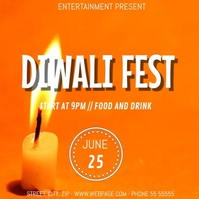 Diwali fest video flyer template