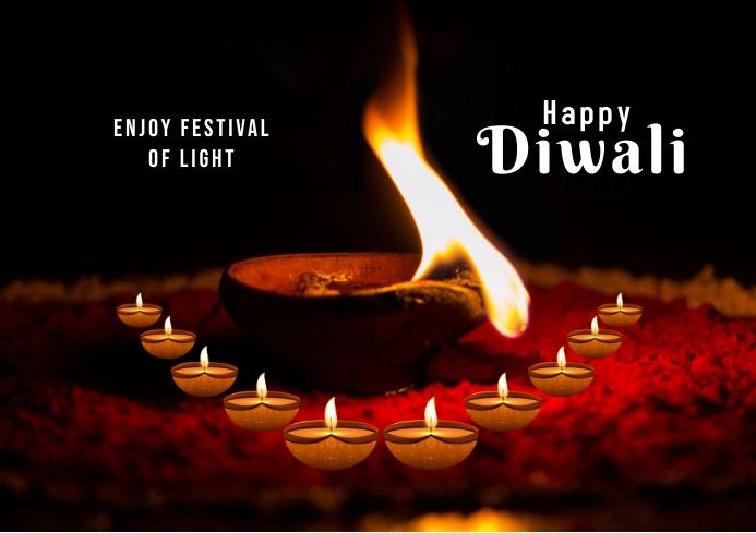 Diwali festival 1ii A3 template