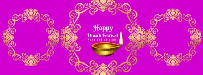 Diwali Festival 3 Portada de Facebook template