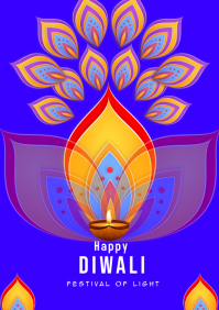 Diwali festival of light A5 template