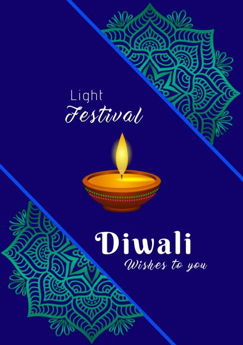 Diwali festival 6i A2 template