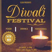 Diwali festival event party Wpis na Instagrama template