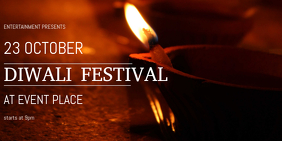 diwali festival facebook cover template